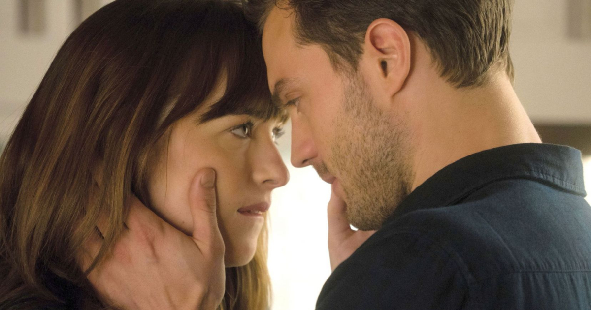Ana and Christian kissing each other in 'Fifty Shades Freed'