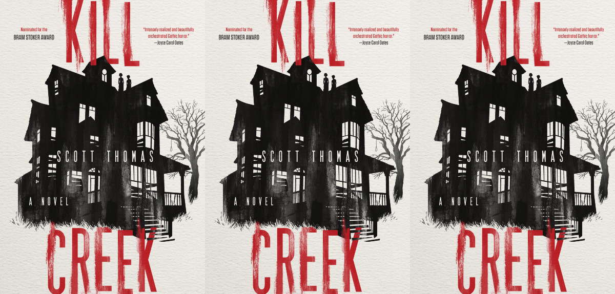 books about haunted houses, kill creek by scott thomas, books
