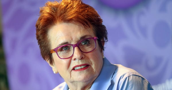 Laguna Niguel, CA, usa, Tuesday, Oct. 8, 2014; Billie Jean King, Co-founder of World Team Tennis and President of Billie Jean King Enterprises, Inc. speaks during the 2014 Most Powerful Women Summit. - Image