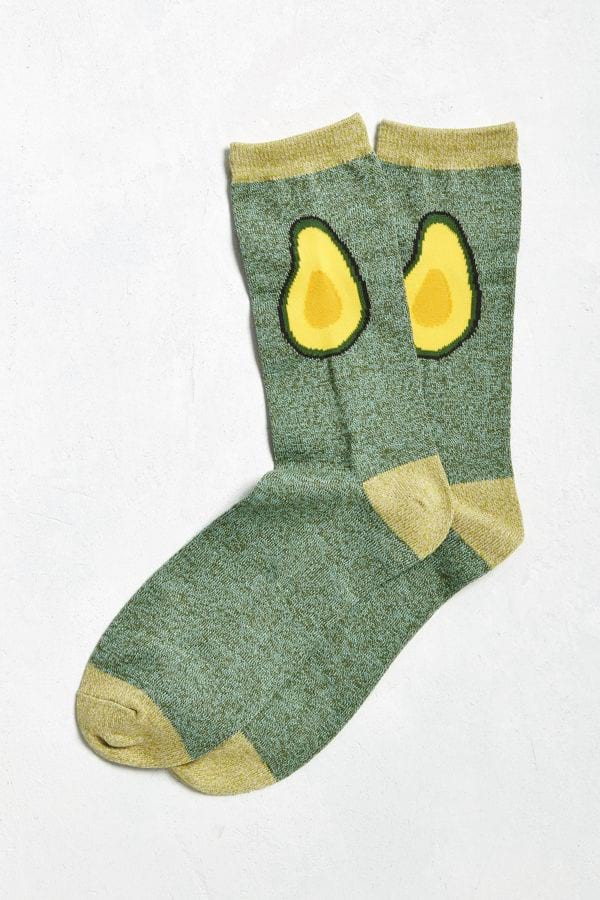Avocado Halves Crew Socks from Urban Outfitters