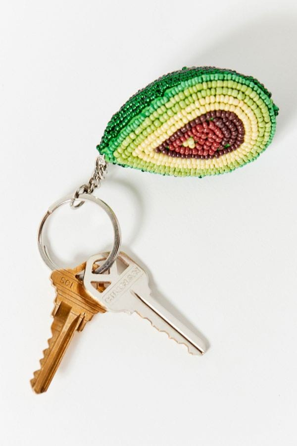 Beaded Avocado Keychain from Urban Outfitters