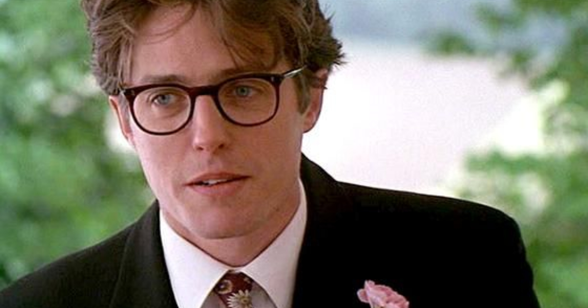 Hugh Grant getting ready to give his Best Man speech in 'Four Weddings and a Funeral'