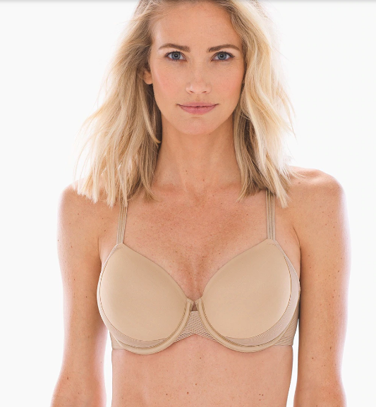 Woman modeling a nude Soma Full-Coverage Cooling Bra