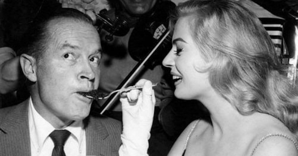 bob hope eating with woman comedian quotes