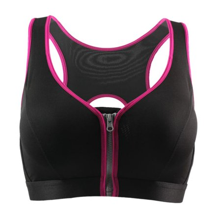 Efinny front closure push-up sports bra in pink