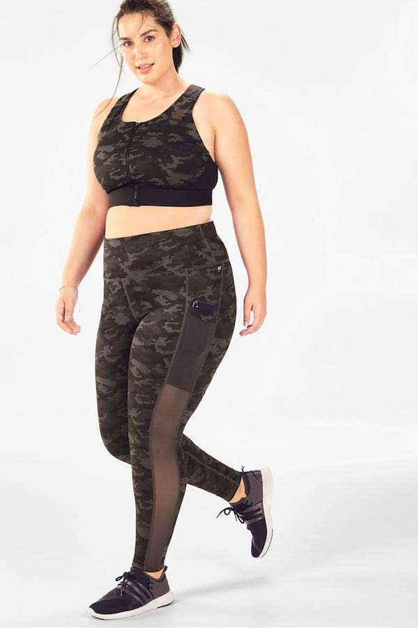Woman wearing a Stone 2-Piece Outfit from Fabletics