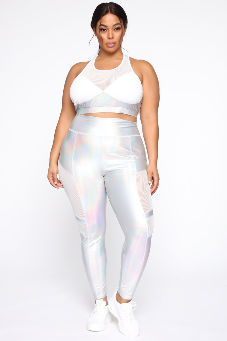 Woman wearing the My Future Is Looking Bright Set from Fashion Nova