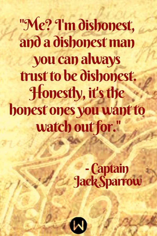 Pirates of the Caribbean, map, captain jack sparrow quote