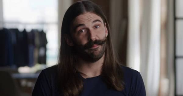 Jonathan Van Ness making a face at the camera in Queer Eye