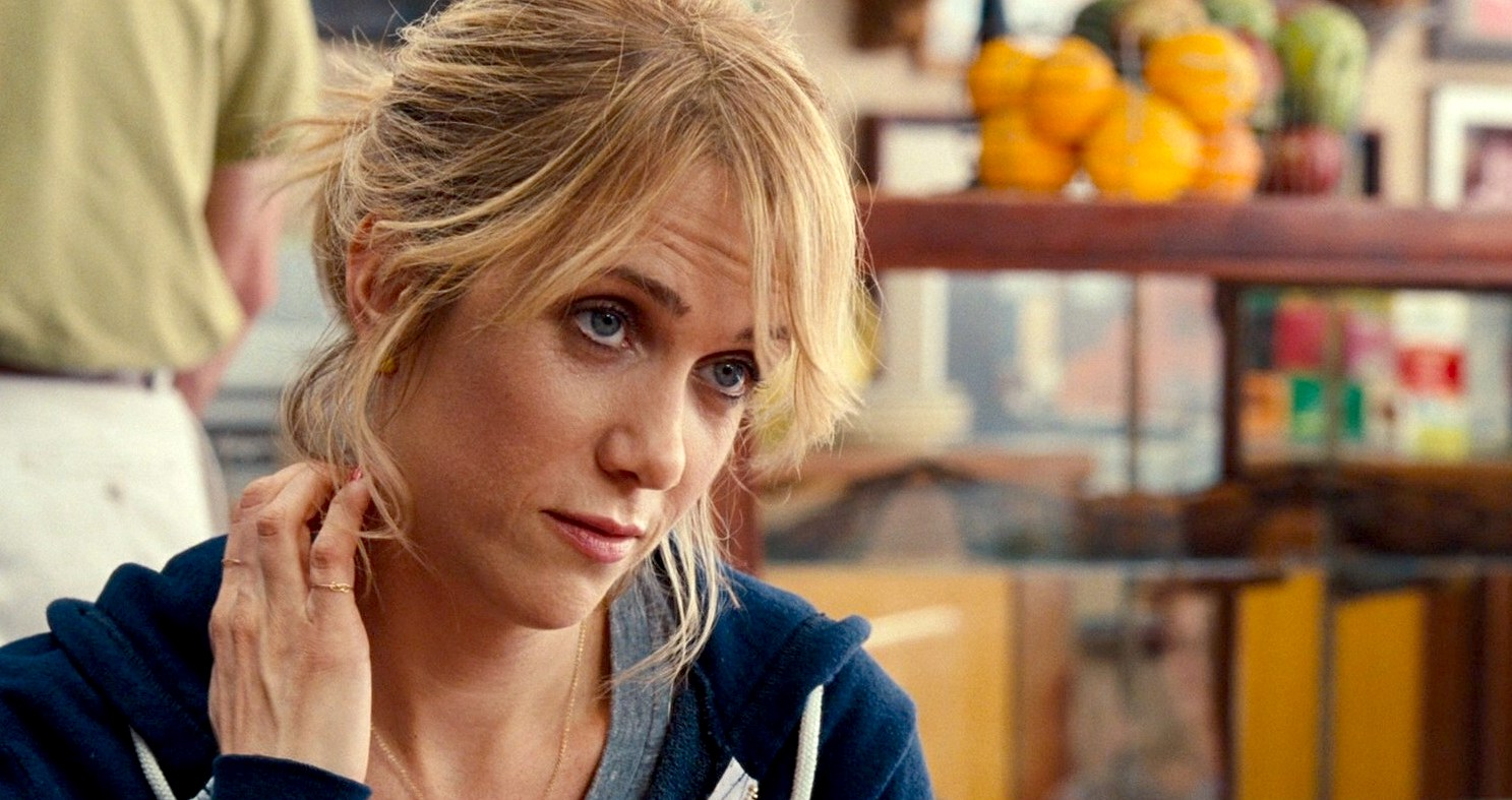 Kristen Wiig as Annie in Bridesmaids at the coffee shop