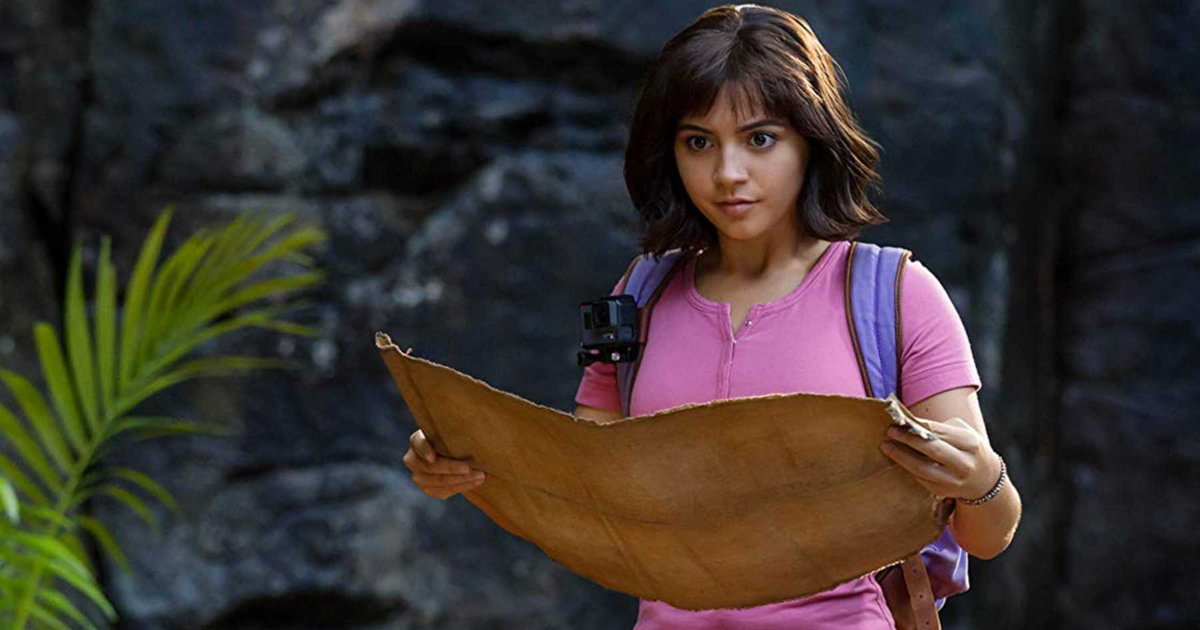 Dora holding an open map in 'Dora and the Lost City of Gold'