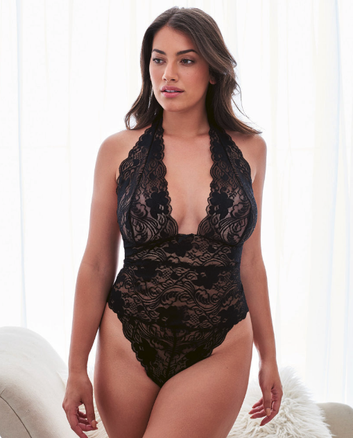 Woman wearing the Ellenora Plus bodysuit from Adore Me