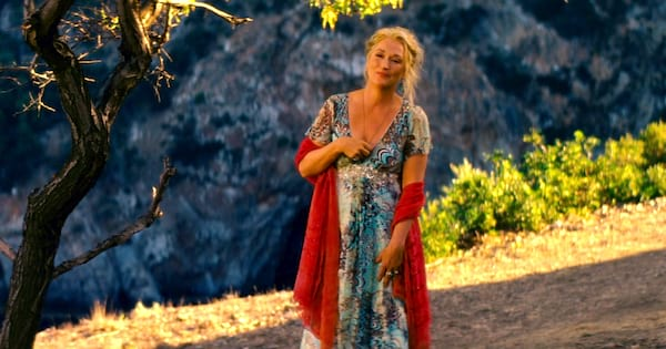 Meryl Streep as Donna at Sophie's wedding in 'Mamma Mia!'