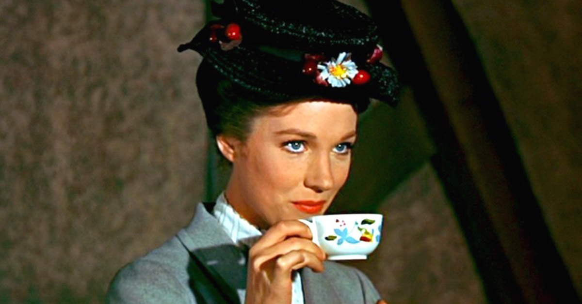Mary Poppins, Disney, Julie Andrews, Tea, british, movies, musical