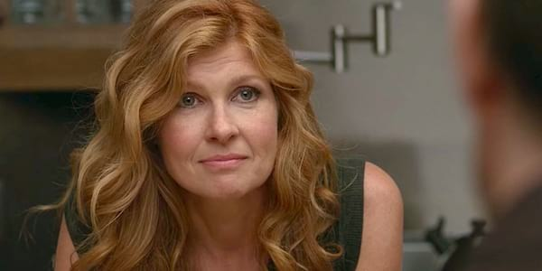 american horror story, connie britton, redhead, hero, confused, thinking, liz