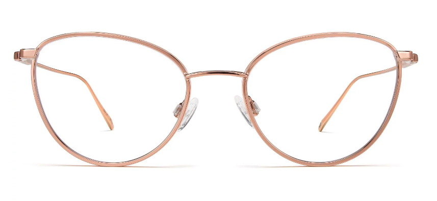 Elise glasses from Warby Parker in Rose Gold With Mojave Mauve