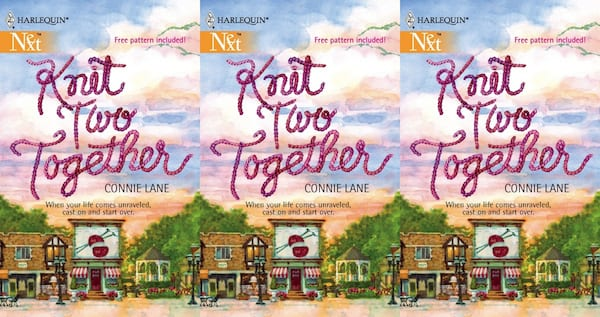 knitting romance novels, knit two together by connie lane, books