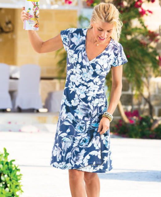 Woman wearing the Shapely Anywhere Dress from Soft Surroundings
