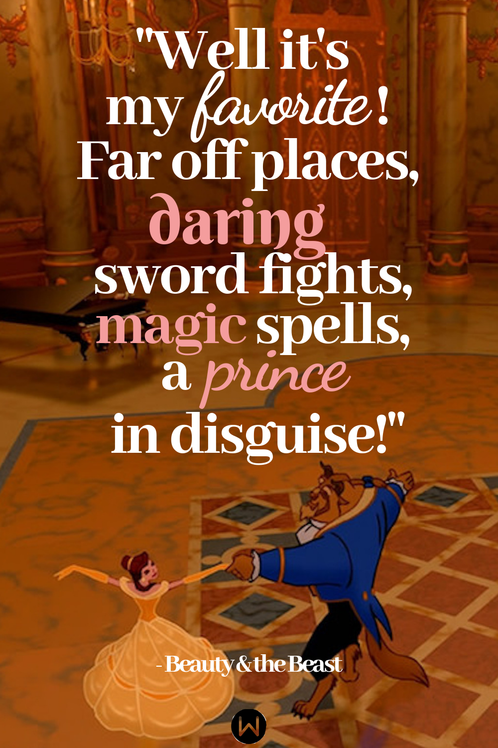 movies, beauty and the beast, Disney, quote
