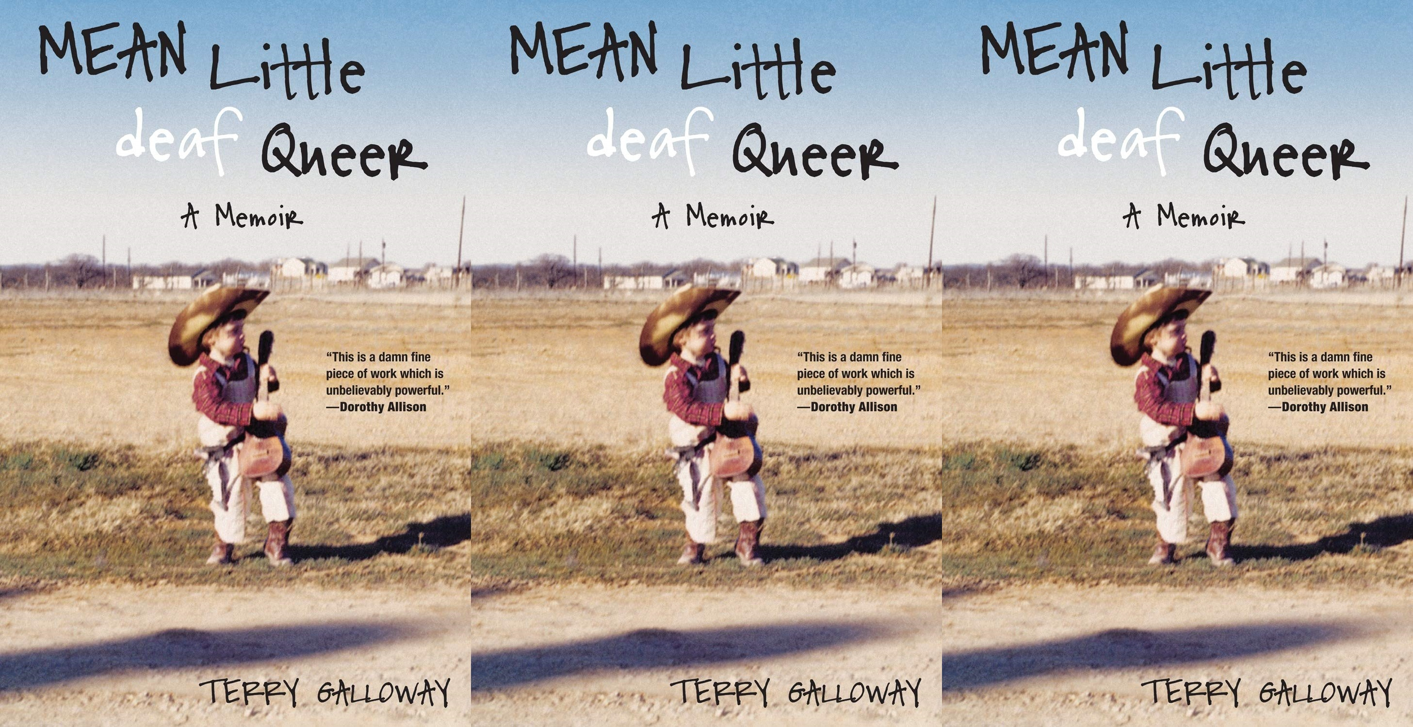 deaf books, mean little deaf queer by terry galloway, books