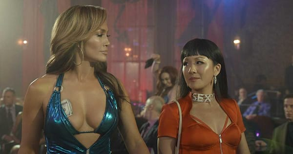 Jennifer Lopez and Constance Wu working at a strip club together in 'Hustlers'