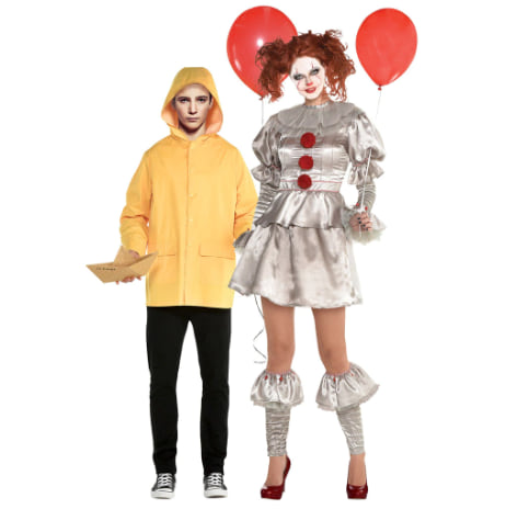 Adult Pennywise & Georgie Couples Costume from Party City