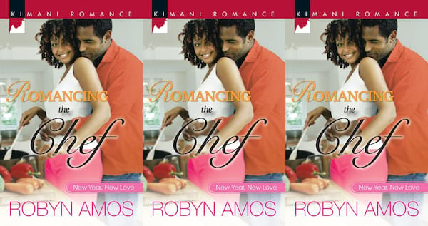 cooking competition romance novels, romancing the chef by robyn amos, books