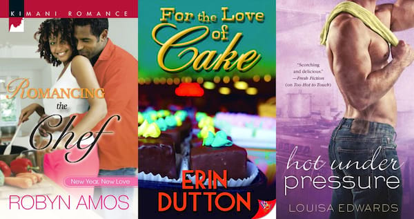 cooking competition romance novels, books