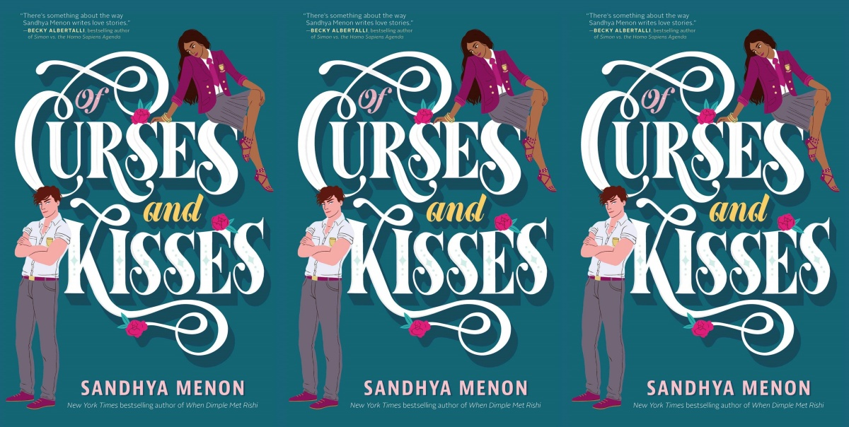 illustrated romance novels, of curses and kisses by sandhya menon, books