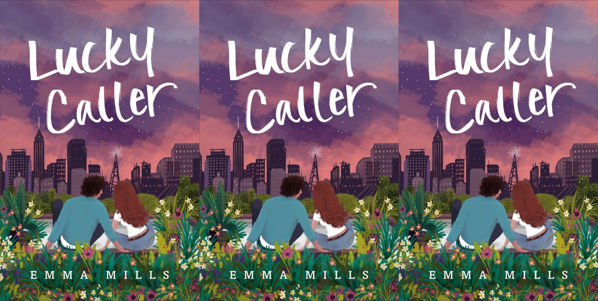 illustrated romance novels, lucky caller by emma mills, books
