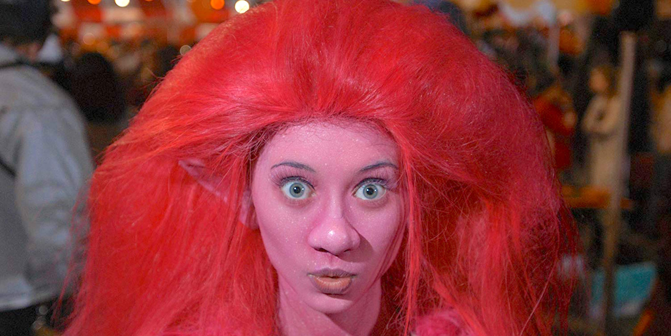 halloweentown high, halloween, Disney, troll, costume, jessica, pink, colorful