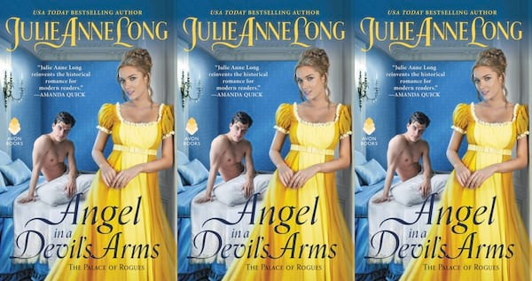 october romance novels, angel in a devil's arms by julie anne long, books