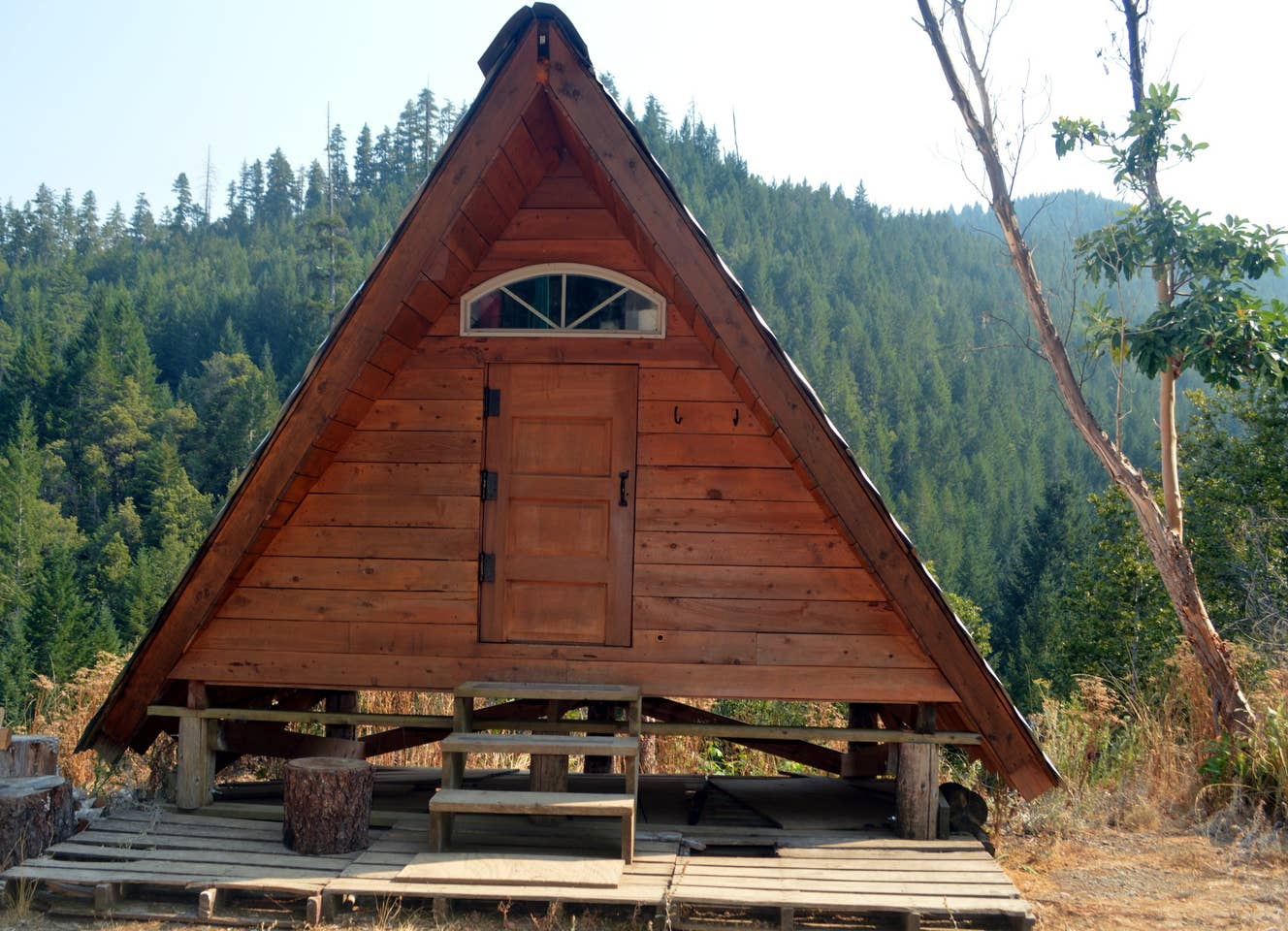 a-frame cabin in california airbnb off the grid