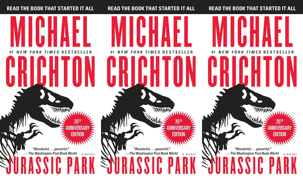 horror-books-that-became-movies, jurassic park by michael crichton, books