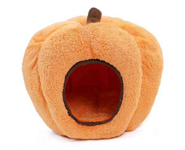 Soft pumpkin cat bed from Amazon