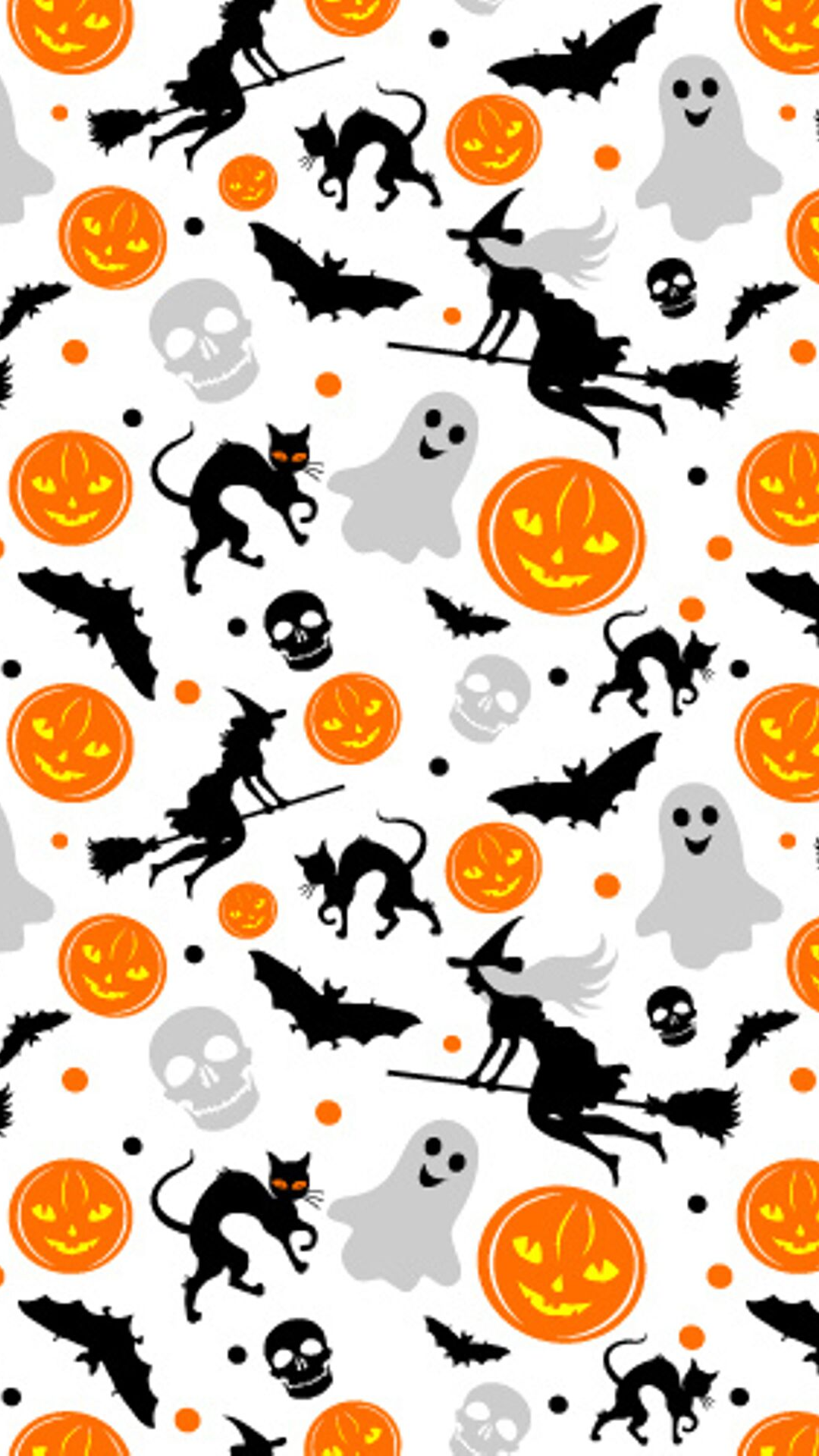 Halloween seamless background - Vector