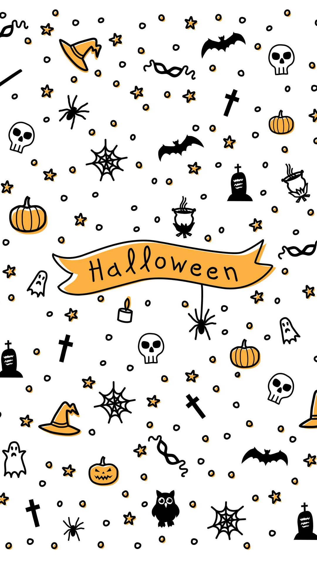 Color pattern for Halloween - Vector