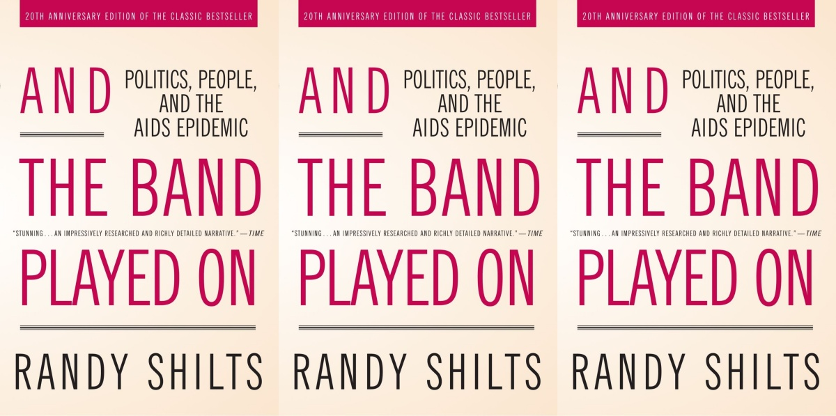 lgbt history month books, and the band played on by randy shilts, books