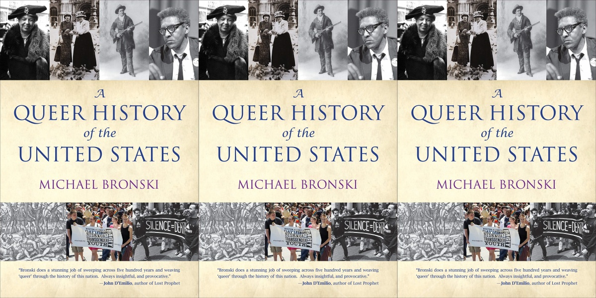 lgbt history month books, a queer history of the united states by michael bronski, books
