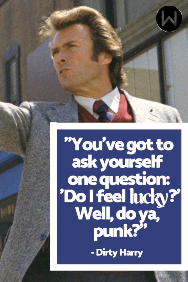 movies, dirty harry, 1971, Clint Eastwood, Classic movie, quote