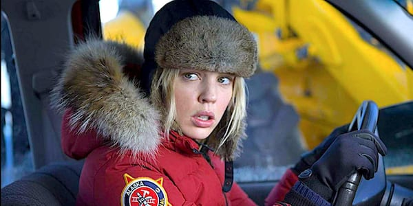 liz, geo, cold, winter, confused, surprised, driving, cold weather, gloves, winter coat