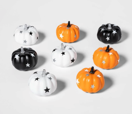 8pk Mini Stars Painted Halloween Pumpkin - Hyde & EEK! Boutique™ from Target