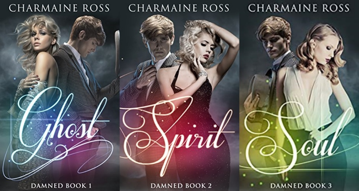 ghost romance novels, damned series by charmaine ross, books