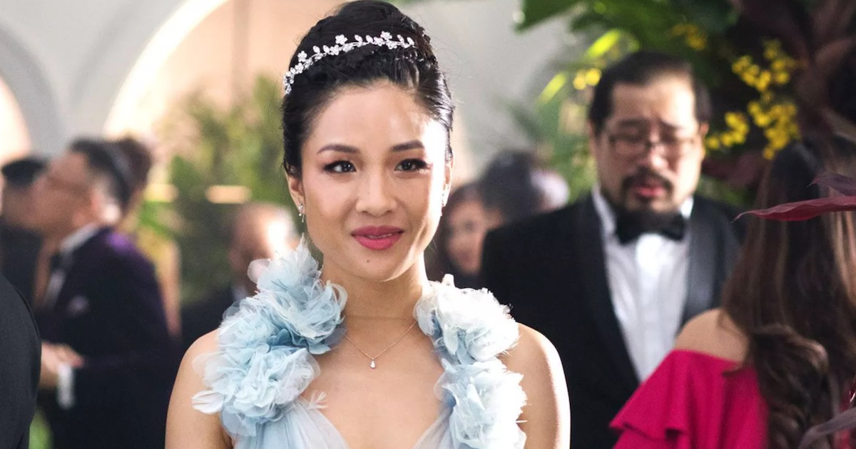 constance wu wearing dress movie crazy rich asians