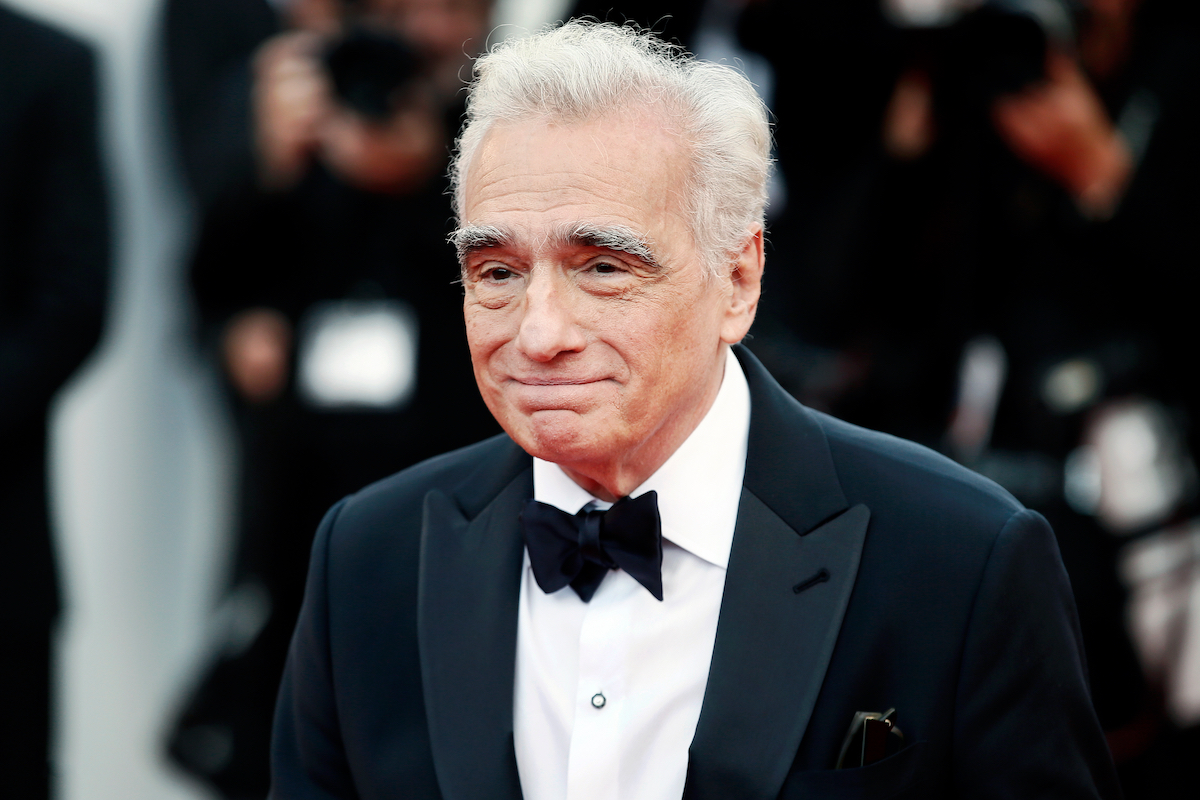 Martin Scorsese in a tuxedo at Cannes Film Festive barely smiling