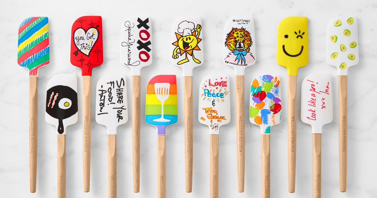 Williams Sonoma celebrity-designed spatulas for the charity No Kid Hungry