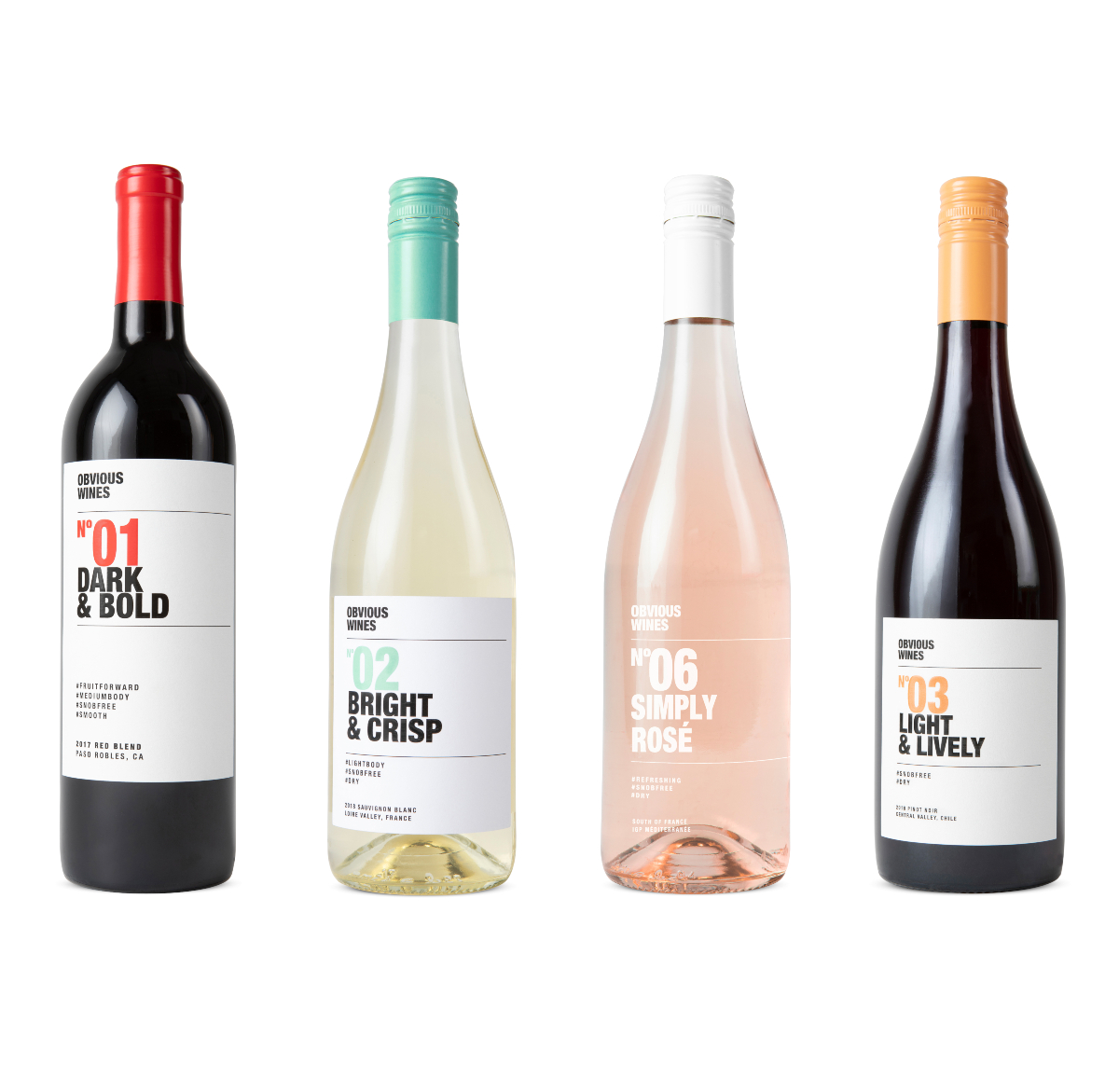 Various bottles of wine from Obvious Wines
