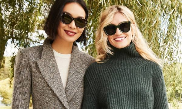 Women wearing pairs of Warby Parker sunglasses