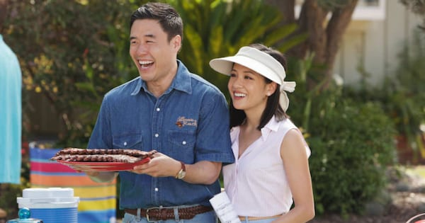 Randall Park and Constance Wu at a picnic in 'Fresh Off the Boat'