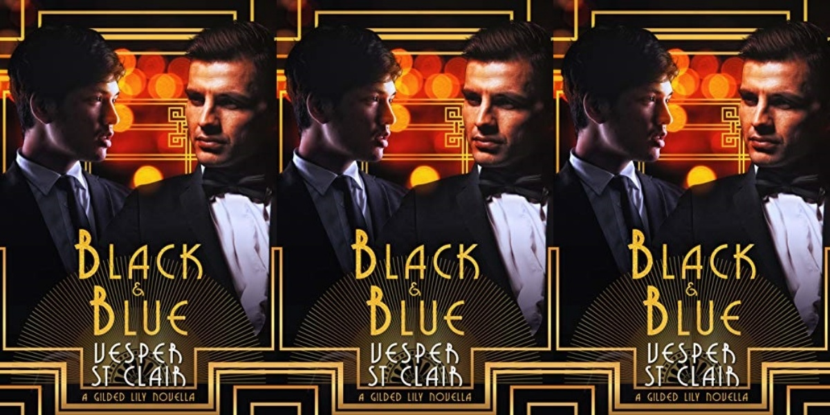 queer historical romance novels, black and blue by vesper st clair, books